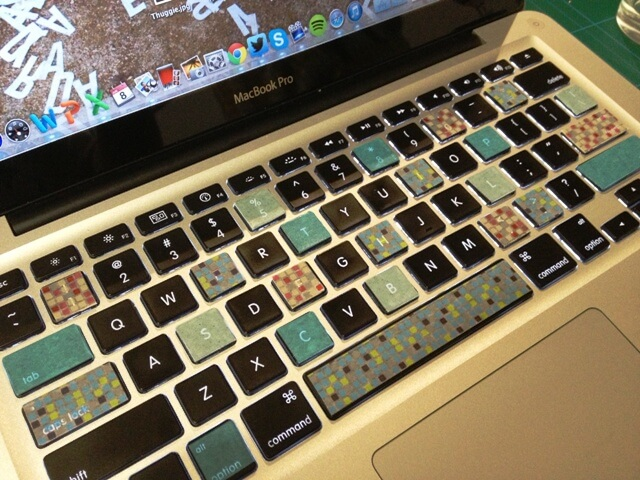 keyboard with washi tape - colorful final